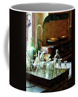 Pharmacy - Glass Funnels And Bottles Coffee Mug by Susan Savad
