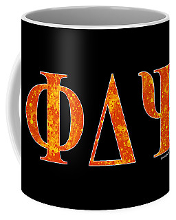 Phi Delta Psi - Black Coffee Mug by Stephen Younts