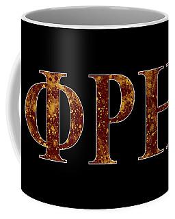 Coffee Mug featuring the digital art Phi Rho Eta - Black by Stephen Younts