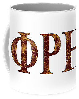 Coffee Mug featuring the digital art Phi Rho Eta - White by Stephen Younts