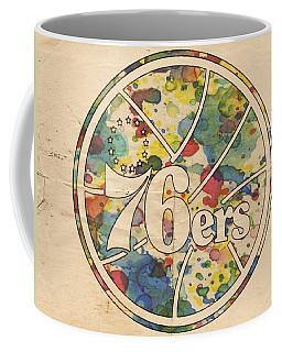 Philadelphia 76ers Retro Poster Coffee Mug