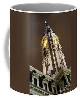 Philadelphia City Hall Clock Tower At Night Coffee Mug