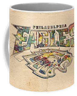 Philadelphia Eagles Poster Art Coffee Mug