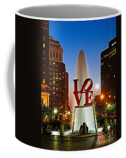 Philadelphia Love Park Coffee Mug by Nick Zelinsky