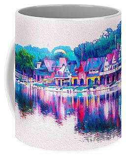 Philadelphia's Boathouse Row On The Schuylkill River Coffee Mug
