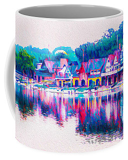 Philadelphia's Boathouse Row On The Schuylkill River Coffee Mug
