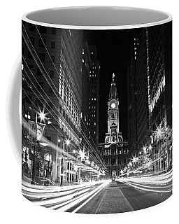Philadephia City Hall -- Black And White Coffee Mug