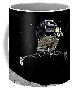 Coffee Mug featuring the photograph Philae Lander Descending To Comet 67pc-g by Science Source