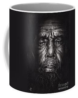 Coffee Mug featuring the drawing Philip by Paul Davenport