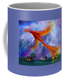 Phoenix Flying At Night Coffee Mug
