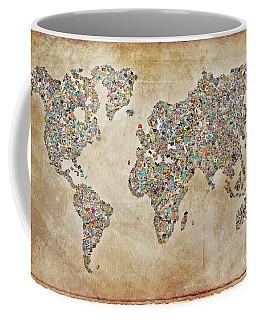 Photographer World Map Coffee Mug