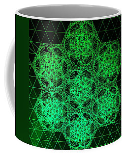 Coffee Mug featuring the drawing Photon Interference Fractal by Jason Padgett