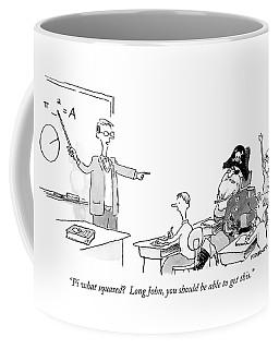 Pi What Squared?  Long John Coffee Mug