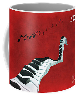 Piano Fun - S01at01 Coffee Mug by Variance Collections