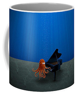 Piano Playing Octopus Coffee Mug