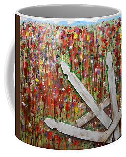 Picket Fence Flower Garden Coffee Mug
