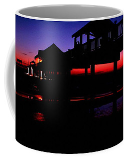 Coffee Mug featuring the photograph Pier 60 In After Glow 2 by Richard Zentner