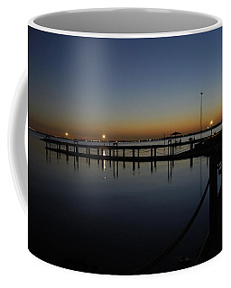 Coffee Mug featuring the photograph Pier At Chandlers Landing Rockwall Tx by Charles Beeler