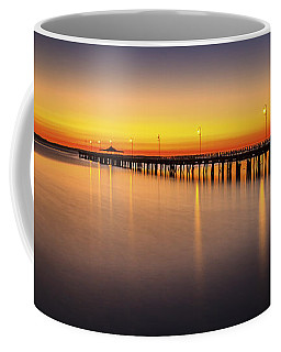 Pier Before Dawn Coffee Mug