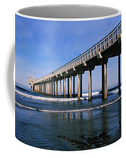 Pier In The Pacific Ocean, Scripps Coffee Mug