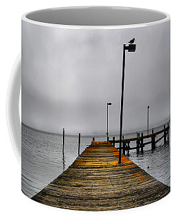 Pier Into The Fog Coffee Mug