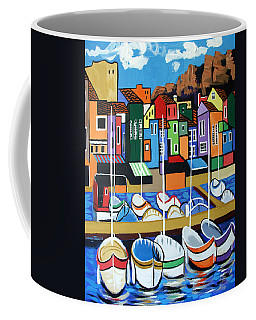 Coffee Mug featuring the painting Pier One by Anthony Falbo