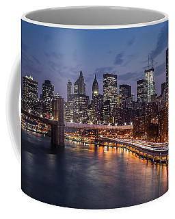 Piercing Manhattan Coffee Mug by Mihai Andritoiu
