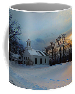 Piermont Church In Winter Light Coffee Mug