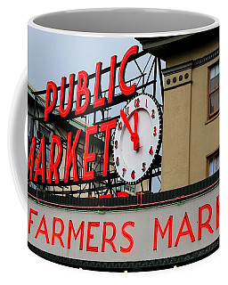 Pike Place Farmers Market Sign Coffee Mug