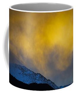 Pike's Peak Snow At Sunset Coffee Mug