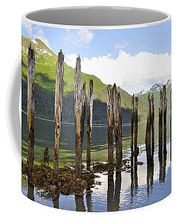 Coffee Mug featuring the photograph Pilings by Cathy Mahnke