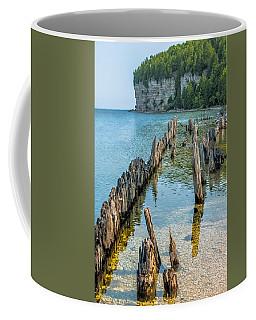 Pilings On Lake Michigan Coffee Mug by Paul Freidlund
