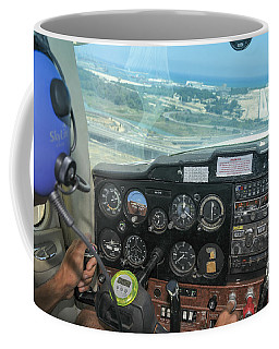 Pilot In Cessna Cockpit Coffee Mug