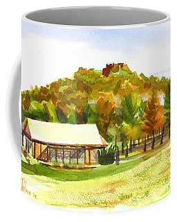 Coffee Mug featuring the painting Pilot Knob Mountain 2 by Kip DeVore