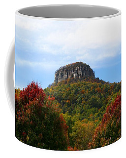 Pilot Mountain From 52 Coffee Mug by Kathryn Meyer