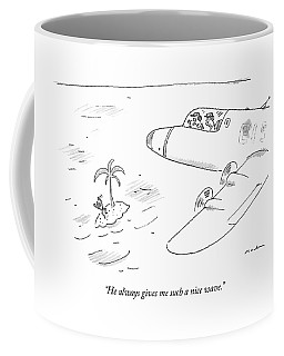 Pilots Seeing A Man Waving Furiously Coffee Mug