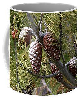 Pine Cones Coffee Mug by Jennifer Muller