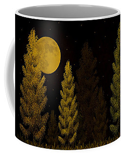 Pine Forest Moon Coffee Mug