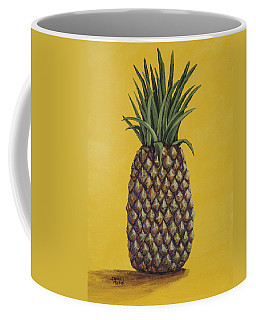 Coffee Mug featuring the painting Pineapple 4 by Darice Machel McGuire