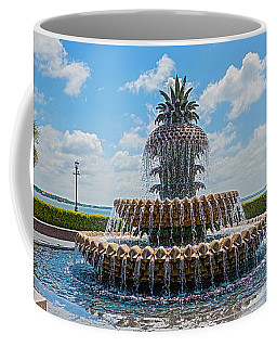 Coffee Mug featuring the photograph Pineapple Fountain by Sennie Pierson