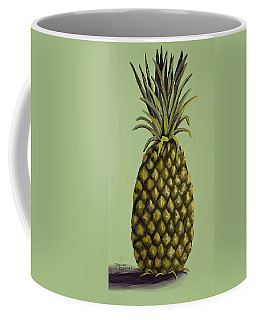 Coffee Mug featuring the painting Pineapple On Green by Darice Machel McGuire