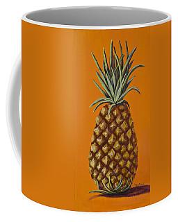 Pineapple On Orange Coffee Mug by Darice Machel McGuire