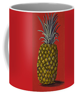 Pineapple On Red Coffee Mug