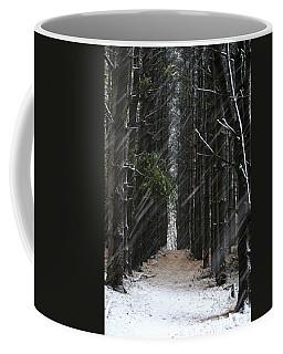 Pines In Snow Coffee Mug