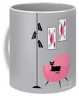 Pink 2 On Gray Coffee Mug