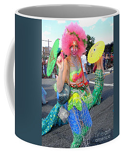 Coffee Mug featuring the photograph Pink Afro by Ed Weidman