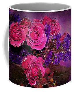 Pink And Purple Floral Bouquet Coffee Mug