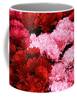 Pink And Red Coffee Mug by Menachem Ganon