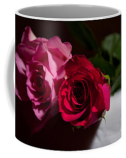 Coffee Mug featuring the photograph Pink And Red Rose by Matt Malloy