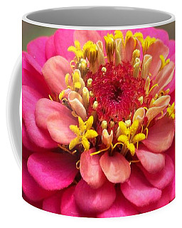 Pink Floral  Coffee Mug by Eunice Miller